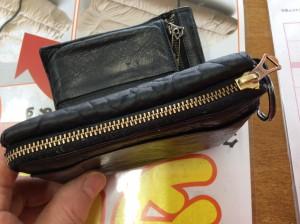二つ折り財布のファスナーアフター