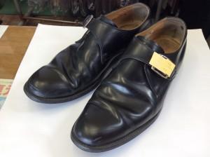 紳士革靴ビフォー