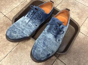 紳士スエード靴ビフォー