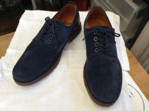 紳士スエード靴アフター