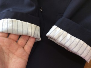 紳士ジャケット袖すり切れアフター