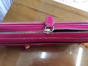 財布のファスナービフォー