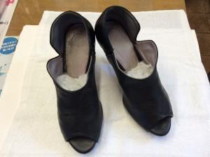 レディース革靴カビアフター