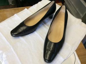 婦人靴の磨きと中敷き交換アフター