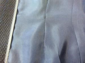紳士ジャケットの裏地擦り切れアフター