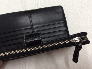 財布のファスナートラブルアフター