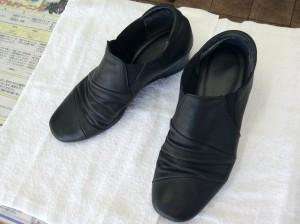 婦人革靴アフター