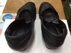 婦人革靴の色ハゲアフター