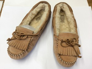 スエード婦人靴アフター