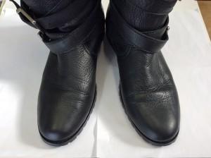 ブーツの色ハゲ補修アフター