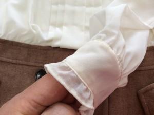 ワンピース袖口の破れアフター