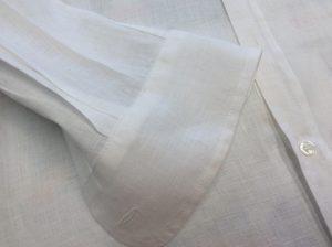 綿ブラウスのシミ抜きアフター