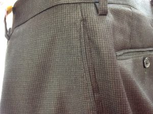 スラックスポケット縁の擦り切れ修理アフター