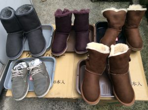 スエード革靴・アグムートンブーツを洗い上げました!