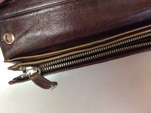 財布のファスナーお直しビフォー