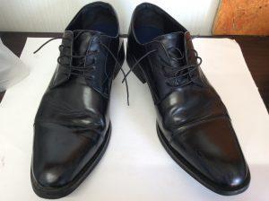 メンズ革靴メンテナンスビフォー