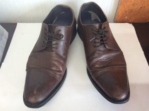 メンズ革靴のメンテナンスビフォー