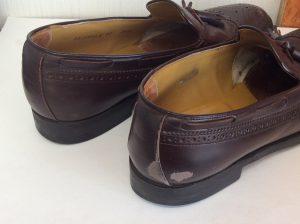 リーガル紳士靴クリーニングと色ハゲ補色ビフォー