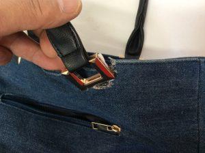 バッグの持ち手金具修理ビフォー
