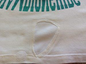 Tシャツの破れ修理アフター