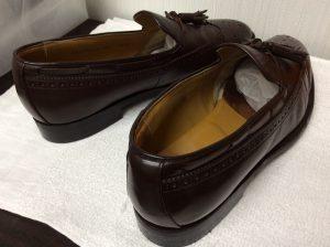 リーガル紳士靴クリーニングと色ハゲ補色アフター