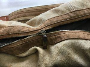 バッグのファスナーお直しビフォー