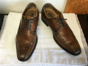 紳士革靴クリーニングと色ハゲ補修アフター