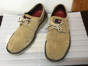 スエード革靴クリーニングビフォー