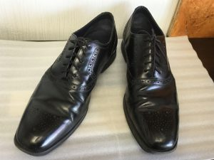 紳士革靴のメンテナンスビフォー