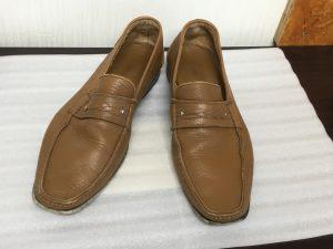 メンズ革靴の洗いビフォー