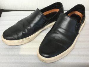 メンズ革靴洗いビフォー