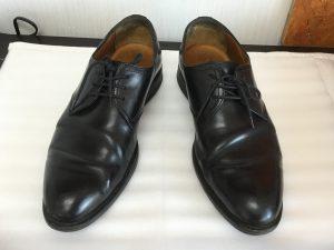 ビジネス革靴のメンテナンスビフォー