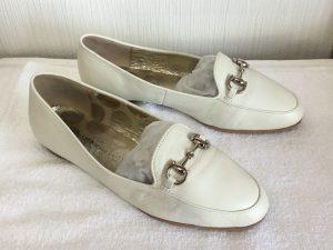 レディース革靴の色ハゲ補修アフター