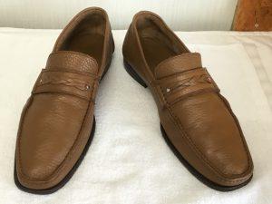 メンズ革靴の洗いアフター
