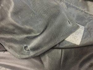 スラックスのポケット中袋穴修理ビフォー