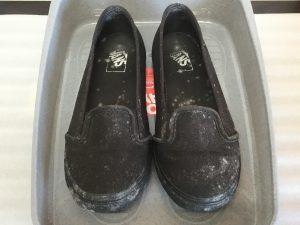 靴のカビ処理ビフォー