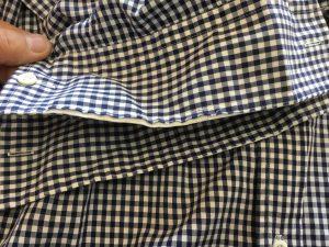 シャツの袖口擦り切れお直しビフォー