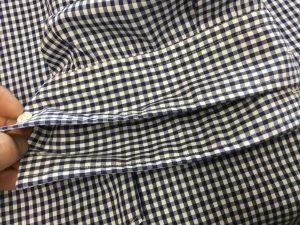 シャツの袖口擦り切れお直しアフター