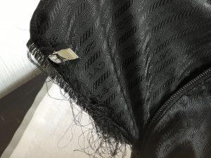 バッグの内側ポケットほつれ修理ビフォー