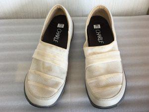 婦人靴の汚れビフォー