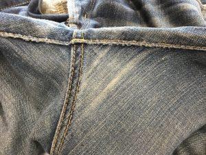 ジーンズの股擦り切れ修理アフター