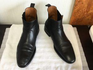紳士革靴丸洗いアフター