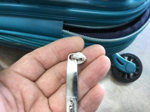 スーツケースのファスナーお直しビフォー