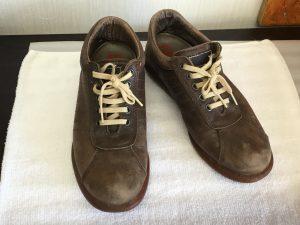 革靴の色ハゲ補修ビフォー