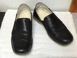 紳士革靴のお手入れビフォー