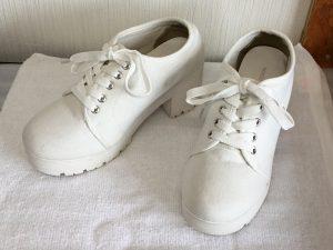 白スニーカー洗いアフター