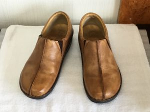 ヌメ革婦人靴クリーニングアフター