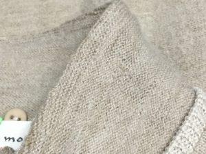 セーターの虫くい穴お直しアフター