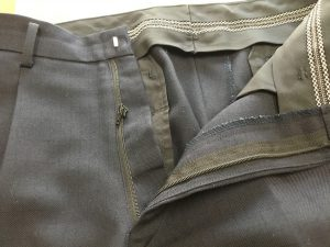 学生ズボンのチャック取替えビフォー