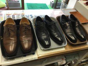 革靴メンテナンスビフォー